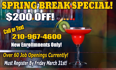 Bartending School Spring Break Special